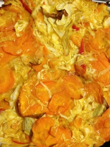 Carrot, Chili and Cabbage Cake